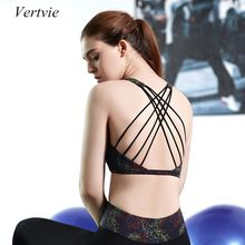 Vertvie Women Sexy Halter Cross Strap Breathable Sports Bra Soft No Rims Running Fitness Bras Anti-static Sports Tank Top Bras