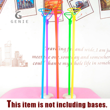Genie 40cm Black White Colorful Balloon Stick and Holder Wedding Party Christmas Home Decoration Balloon Accessories Rods Cheap