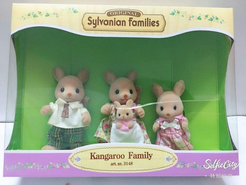 original Sylvanian Family of Kangaroo family  mini size action Figures Anime Cartoon figures Toys Child Toys gift<br>