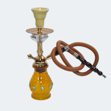 Babilon Practical Alloy+crystal Complete Set Yellow Small shisha hookah in glass smoking pipe Narguile bottle polarized one hose