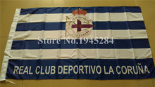 Real Club Deportivo de La Coruna Flag Spain Futbol Soccer La Liga New 3x5ft 90x150cm Polyester LFP Flag, free shipping(China)