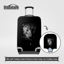 Dispalang Waterproof Spandex Animal Leopard Printing Travel Luggage Cover Elastic 18-30inch Anti-dust Suitcase Cover with Zipper(China)