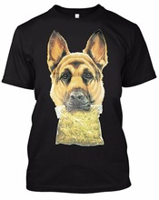 New Arrival 2017 Newest Funny Brand Clothing Fashion Printed Short German Shepherd Male Top Casual Summer T-shirt(China)