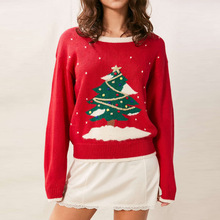 2016 New Winter Christmas Women Christmas tree Sweater Female Fashion Thicken Pullovers Lady Knitted Cotton red Sweaters