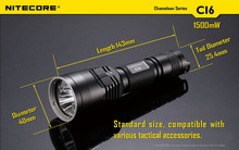 Nitecore Chameleon LED Tactical Flashlight Infra Red White 440 Lumen CI6 NEW without battery