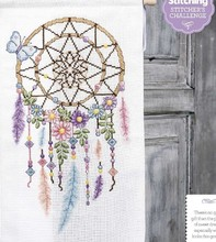 QT2571 Indian dream catcher feather magazine cross stitch kit DMC Threads sewing craft Handmade DIY craft embroidery needlework(China)