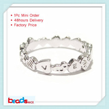 Beadsnice ID26773 new style top quality 925 sterling silver handmade jewelry personalized Initial mid Knuckle Ring on sold(China)