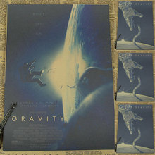 Vintage Poster Gravity Space Movie Poster retro space shuttle Sandra Bullock George Clooney retro poster