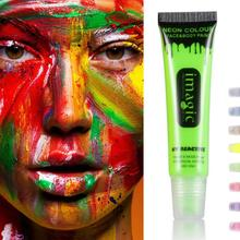 IMAGIC Neon Color Body Art Painted Pigments Halloween Cosplay Fluorescent Paint Festival Party Flash Tattoo Makeup Y1-5
