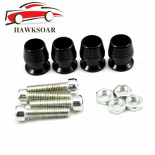 4pcs License Plate Frame Bolts Screws Fasteners Fit for Motorcycle Cone Washer