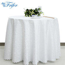 White Round Tablecloth Polyester Rectangular Table Cloth for Weddings Restaurant Hotel Overlay Tablecloths Machine Washable(China)