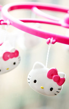 Kawaii Hello Kitty Round 18*19CM Home bathroom hook Clothes Hanger Racks ; Clip Kitty Clamp Hanger Cloth Rack  bathroom hook