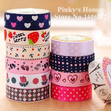 1pc DIY Cute Satin Lace Decorative Tape Adhesive Tape Washi Fabric Tape Stickers Masking Tape Stationery School Supplies