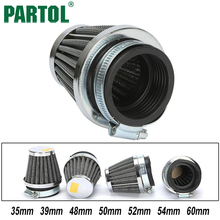 Partol 4PCS 35mm 39mm 48mm 50mm 52mm 54mm 60mm Motorcycle Air Filters Mushroom Head Cleaner Racing For Motorbike Toyoto Honda(China)