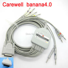 Eletrocardiograma Carewell EKG cable 10 lead ecg cable banana 4.0 on terminal