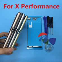 Housing Middle Bezel Plate LCD Frame chassis with Button SIM Dust Cover For Sony Xperia X Performance XP F8131 F8132 + tools(China)