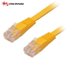 Best Price Home Office Flat Ethernet Cable CAT 5e RJ45 Network Ethernet Patch Cord Lan Cable for Computer Router Yellow