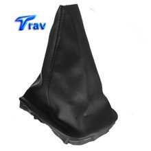 Gear Leather Cover Stick Shift Knob Gaiter Cover For VW Golf MK4 IV 98-03 Black