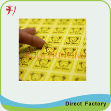 Custom self adhesive cosmetic label,self adhesive stickers label papers manufacturer