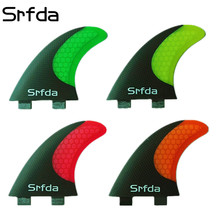 srfda free shipping fiberglass honeycomb  surfboard fin thruster FCS G5 surf fins size M FCS fins Top quality