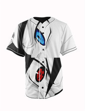 Real American Size  naruto   3D Sublimation Print Custom made Button up baseball jersey plus size