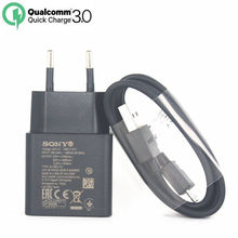 Original Sony UCH12 Qualcomm QC3.0 Quick USB Charger with Type C Cable For Sony Xperia XZ  X Compact XA XZP XZS XC XP Z4 Z55P