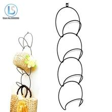 White/Black Metal Wire Stackable Wall Mounted Hanging Storage Over The Door Hat Rack A223
