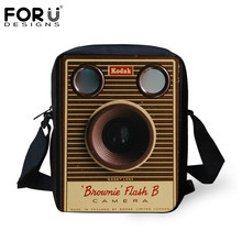 FORUDESIGNS Vintage Camera Print Women Cross-body Bags Luxury Designer Boys Girls Mini Messenger Bag Handbags for Children Gifts(China)
