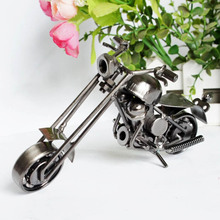 Black color traditional Handmade Metal Motorcycle Model Toys for Children Birthday Gift