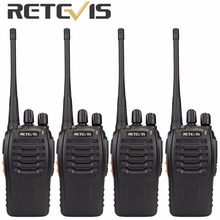 4pcs Retevis H777 Walkie Talkie Set 3W UHF 400-470MHz Handheld Hf Transceiver 2 Way cb Radio Portable Walkie-Talkie A9105A(China)