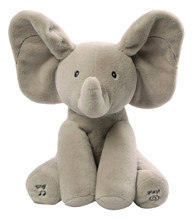 Electronic Pets Gund Baby Animated Flappy The Elephant Plush Toy Solid Gray Color Toy(China)