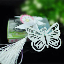 50pcs/lot Love buterfly metal bookmark for books Silver color Book marker set  Wedding gift stationery office school supplies