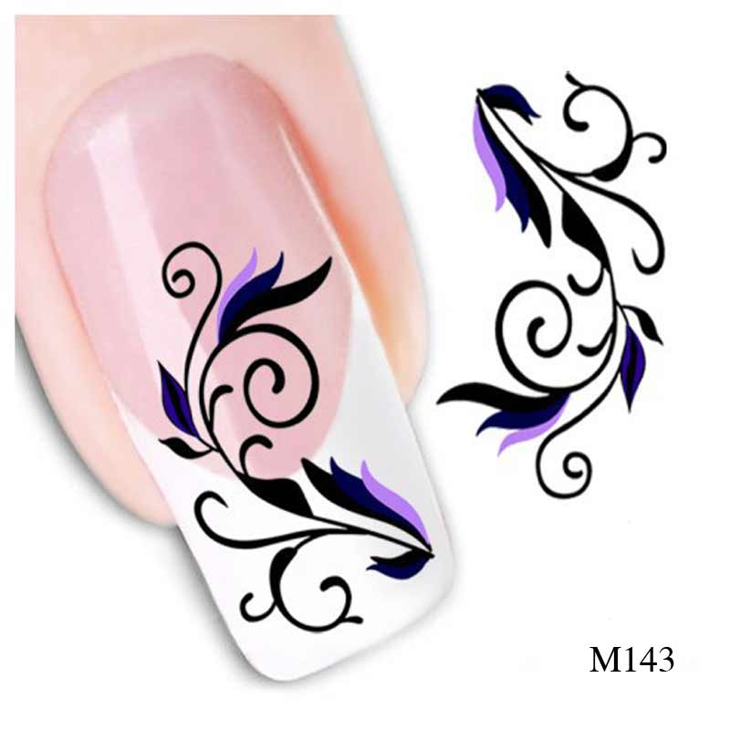 1pcs Fashion Style Nail Art Water Decals Transfer Sticker Polish Watermark Decals Manicure Decor Beauty Nail Stickers Ongles<br><br>Aliexpress