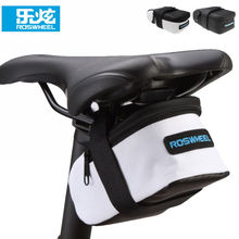 Buy ROSWHEEL Mini Fixed Gear Bike Bicycle Cycling Saddle Bag Back Seat Seatpost Tail Pouch Package Bag for $4.74 in AliExpress store