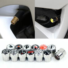 Car Tire Valve Caps fit for Toyota 86 TRD STI CH-R WRX Alphard harrier vellfire prius momo badge accessories 4pcs/set