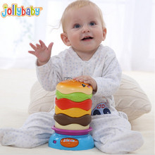 Baby Musical Toys Instruments For Children Babies Hamburger Kids Educational Developmental Rotatable Music Toys Removable