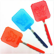 Plastic Insect Fly Pest Mosquito Swatter Retractable Butterfly Pattern Handy Bug Killer Long Racket Handle Swat Wasp Protector
