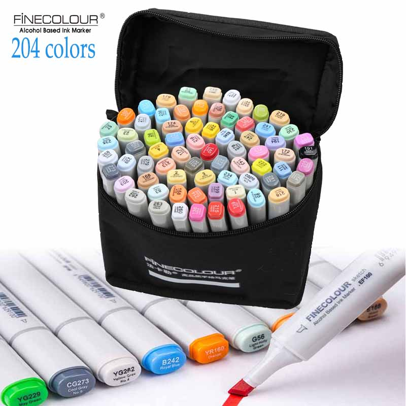 FINECOLOUR generation 36/48/60/72 Artist Double Headed Sketch Marker Set Alcohol Based Manga Art Markers for Design Supplies<br>