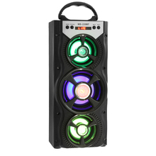 Portable MS - 220BT Bluetooth Speaker FM Radio AUX Huge Stereo Sound With 4-inch Hi-Fi Speaker Colorful LED Light(China)