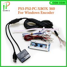 Arcade USB Encoder Play Station PC PS2 PS3 Joystick For Arcade Controllers 2Pin Rocker + Sanwa Push Buttons Cable