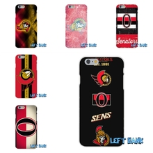 ottawa senators logo nhl hockey team Soft Silicone TPU Transparent Cover Case For iPhone 4 4S 5 5S 5C SE 6 6S 7 Plus(China)