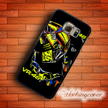 Coque Black Valentino Rossi VR46 Case for Samsung Galaxy Note 8 5 4 3 Case for Galaxy S8 Plus S7 S6 S5 S4 S3 Mini Active Case.(China)