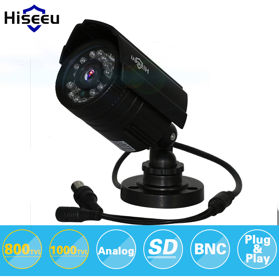 Hiseeu 800TVL 1000TVL ABS CCTV Camera Analog IR-Cut Night Vision Outdoor Waterproof Bullet Camera Surveillance freeshipping SBE<br><br>Aliexpress