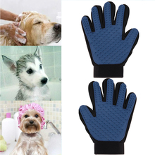2Pcs/set Rubber Pet Brush Glove Five Fingers Deshedding Gentle Efficient Grooming Glove for Animals Dog Pet Cleaning Supplies
