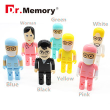 Dr.Memory Doctor Nurse Cute Model USB Flash Drive USB 2.0 Pen Drive Download Memory Stick 32/16/8 GB U Disk Wholesale Pendrive