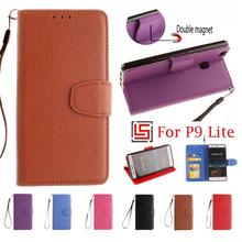 Cheap Best PU Leather Flip Book Filp Wallet Stand Phone Mobile Cell Case Cover For Huawei Hawei Huaewi P9 P 9 Lite Brown Rose