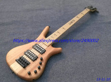 Best  W model  Electric bass, natural color finished,5 string,open pole black pickups,neck thru body building.Real photo shows