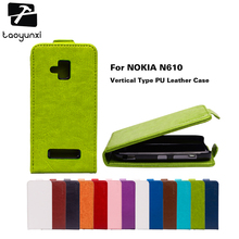TAOYUNXI Flip PU Leather Case For Nokia 610 Case For Nokia Lumia 610 N610 3.7 inch Case Cover Solid