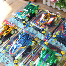 Sale Best Motor-driven Assembling Toys Vehicle Four Model Racing Oxyphylla Toys(China)