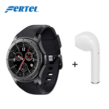 "2017 NEW Bluetooth Smart Watch MTK6580 1.39"" AMOLED Round Support SIM Card Mini Bluetooth Headset Set For Android IOS Phone"
